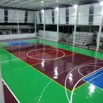 Estrutura metálica e Construção de quadra poliesportiva